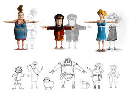biblimation 3d characters