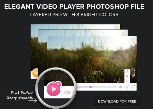 Free Layered PSD of a video player download