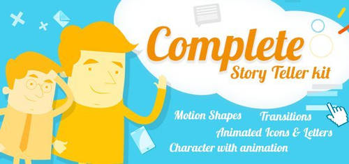 Cartoony Characters After Effects Template