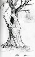 Druid Drawing by ravinsilverlock