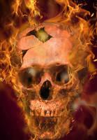 Fire Skull by ravinsilverlock