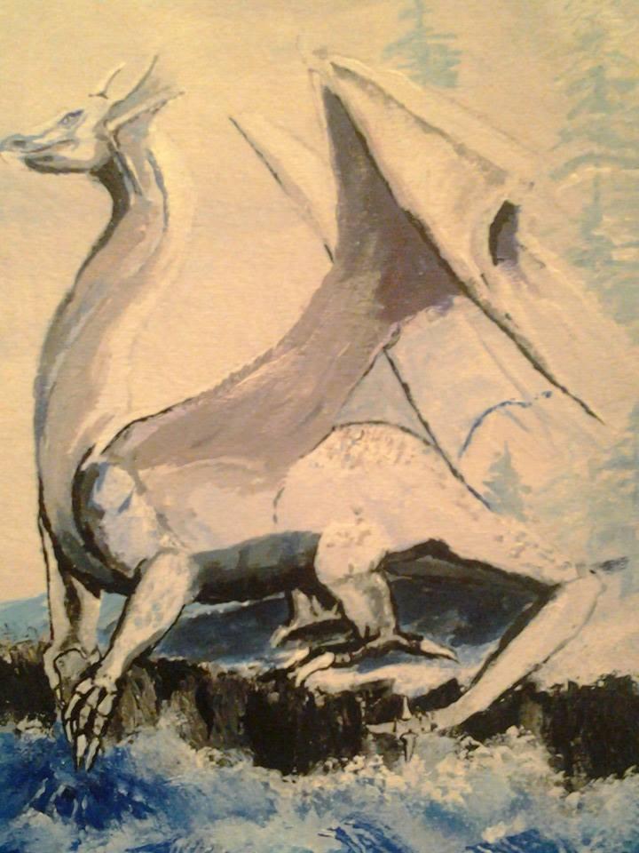 Dragon painting by ravinsilverlock