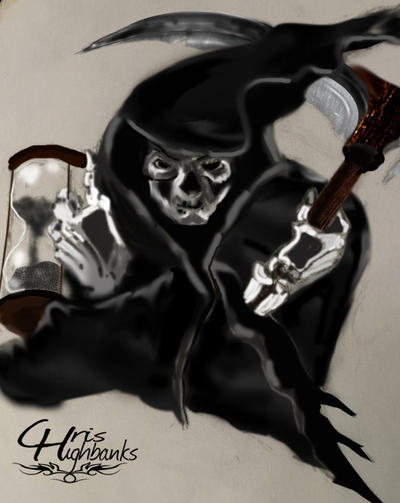 Grim Reaper Painted by ravinsilverlock