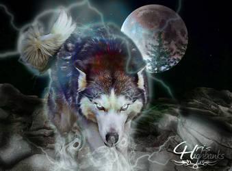 Wolf Power by ravinsilverlock