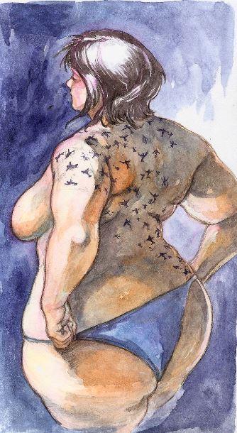 Sextories, girl sketch by Butanoou