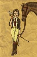 Equestrienne, 1930s style by Blue-eyed-Kelpie