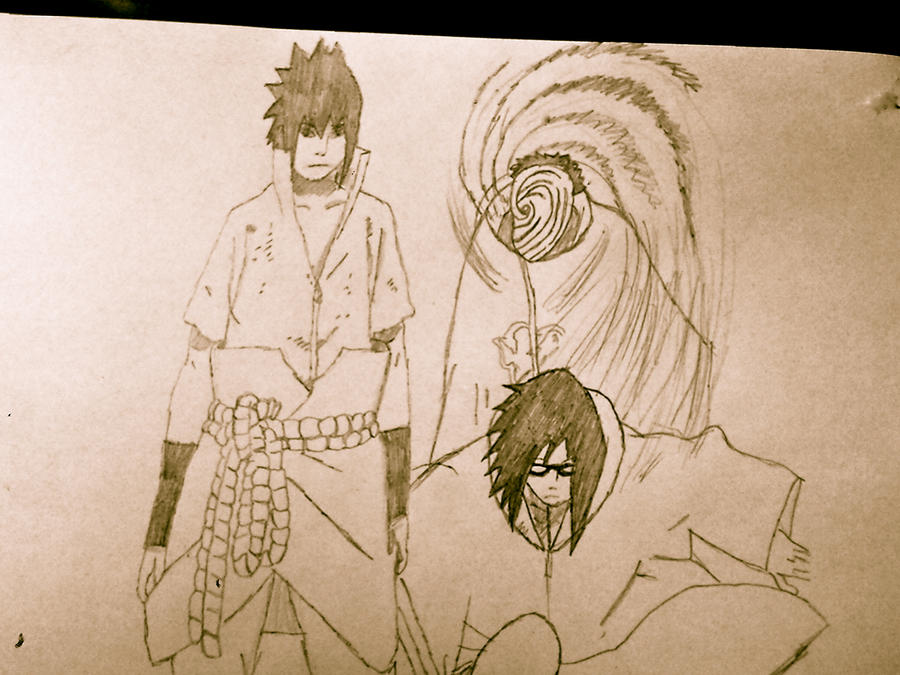 Sasuke, Karin and Madara by akatsuki409