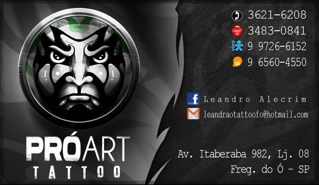 ProArt Tattoo - Business Card by NinthArccot on DeviantArt