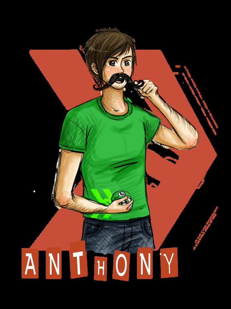 Smosh - Anthony with mustache by GothicShoujo