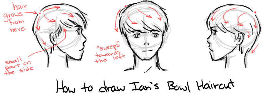 How to Draw Ians Bowl Haircut by GothicShoujo on DeviantArt