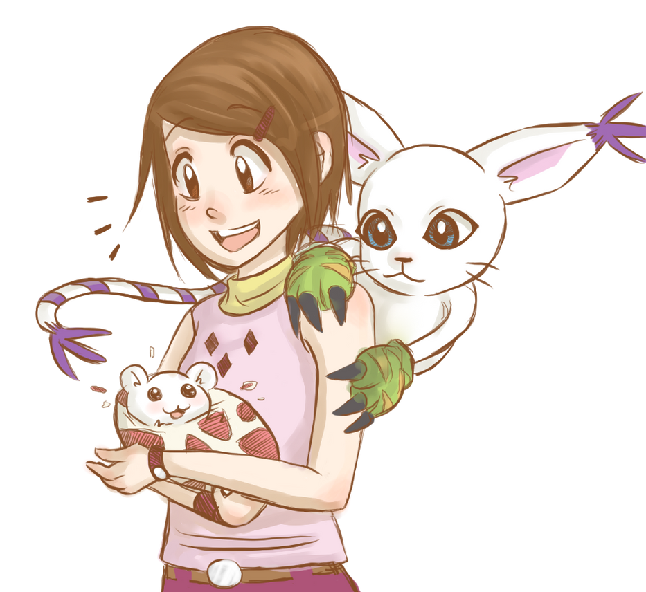 Hikari and Gatomon by GothicShoujo