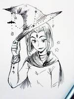 Inktober #1: Raven by GothicShoujo