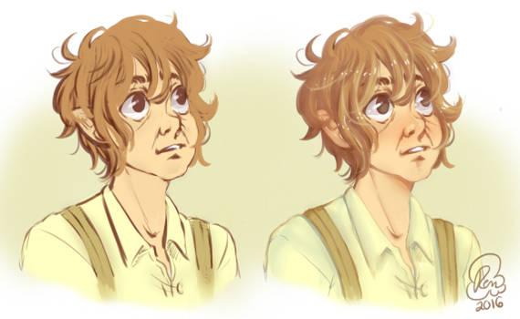 6.11.16 - Hobbit (Bilbo) sketches