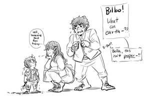 Baggins family doodle