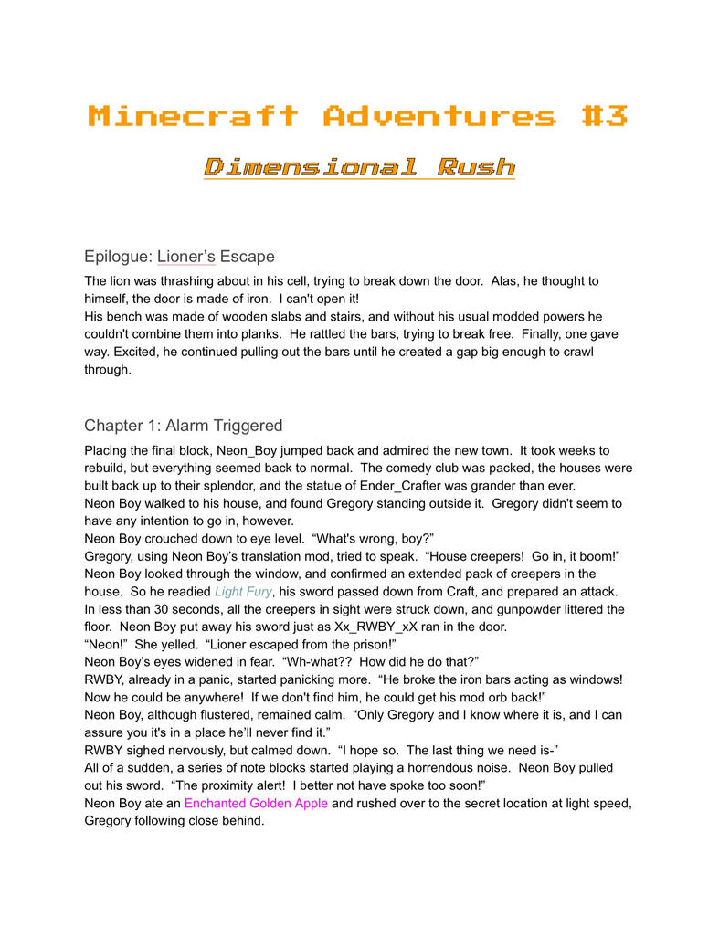 Minecraft Adventures #3 preview (SPOILERS!!!) by Bright-Light-Leader