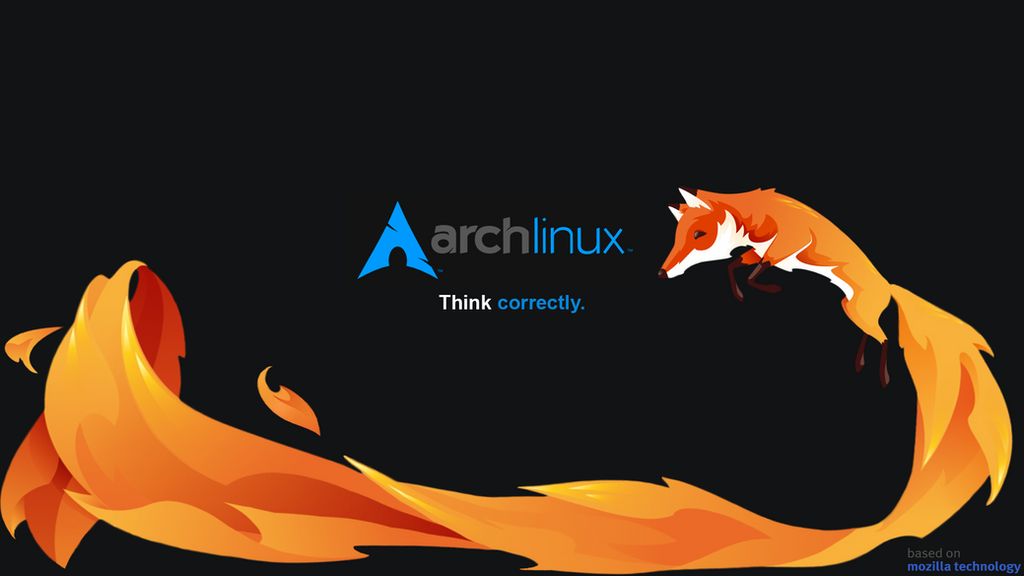 Firefox Think Correctly Arch Linux Remix Wallpaper By Wallmaker