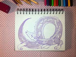 Doodle: A Violet Dragon by hannariikkart