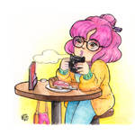 #drawthisinyourstyle: Afternoon coffee by hannariikkart