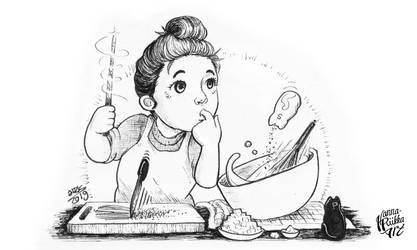 Inktober 2019: A Cooking Witch