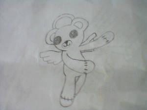angel bear in flight