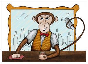 monkey bartender