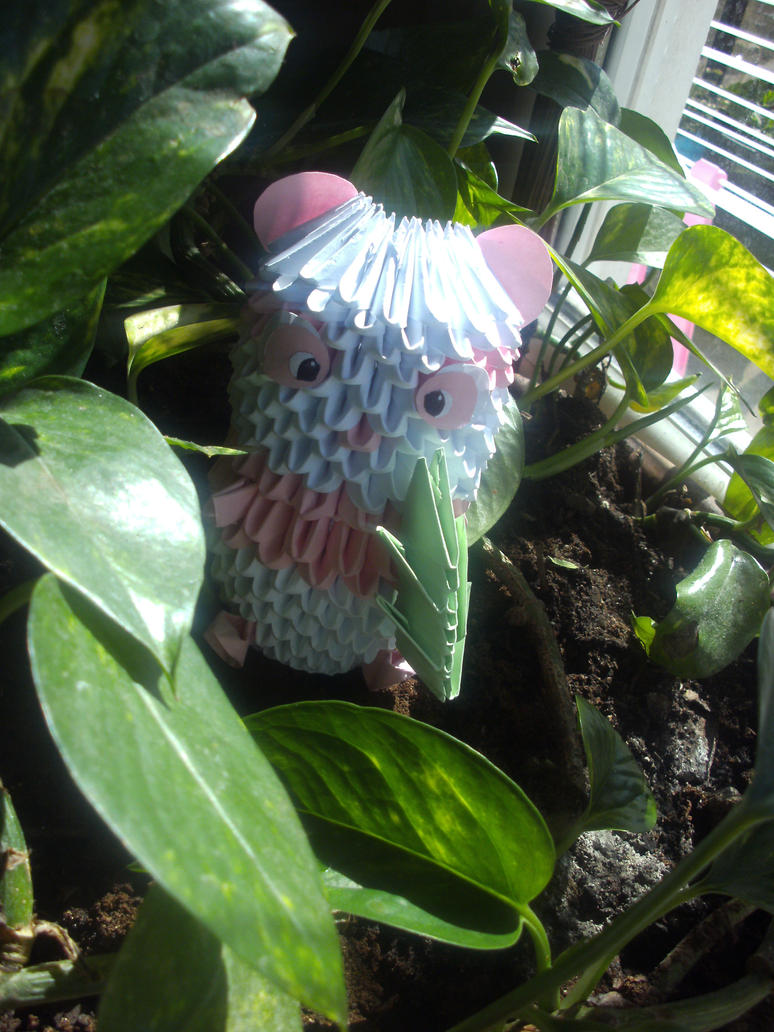 Pink Panda - 3D Origami by SophieEkard