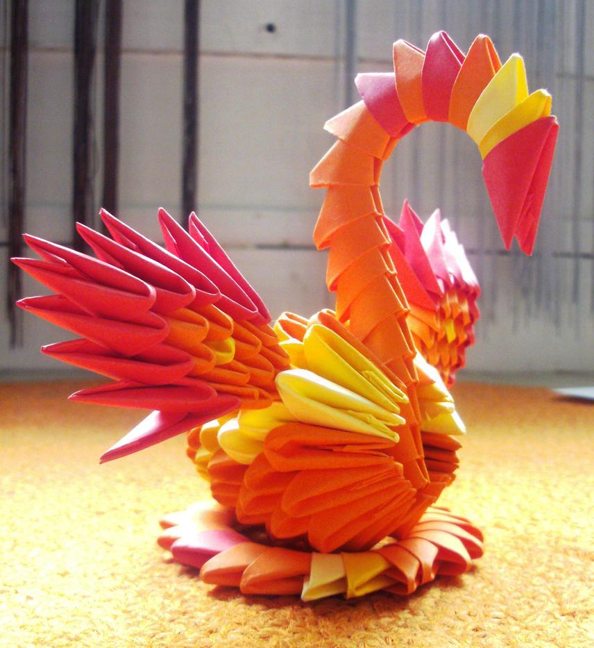 Little Phoenix - 3D Origami by SophieEkard