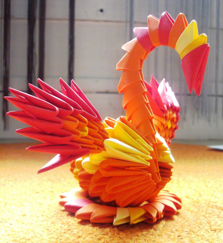 3d origami daffodil by nga1012 on deviantart little phoenix 3d origami by sophieekard jeuxipadfo Images