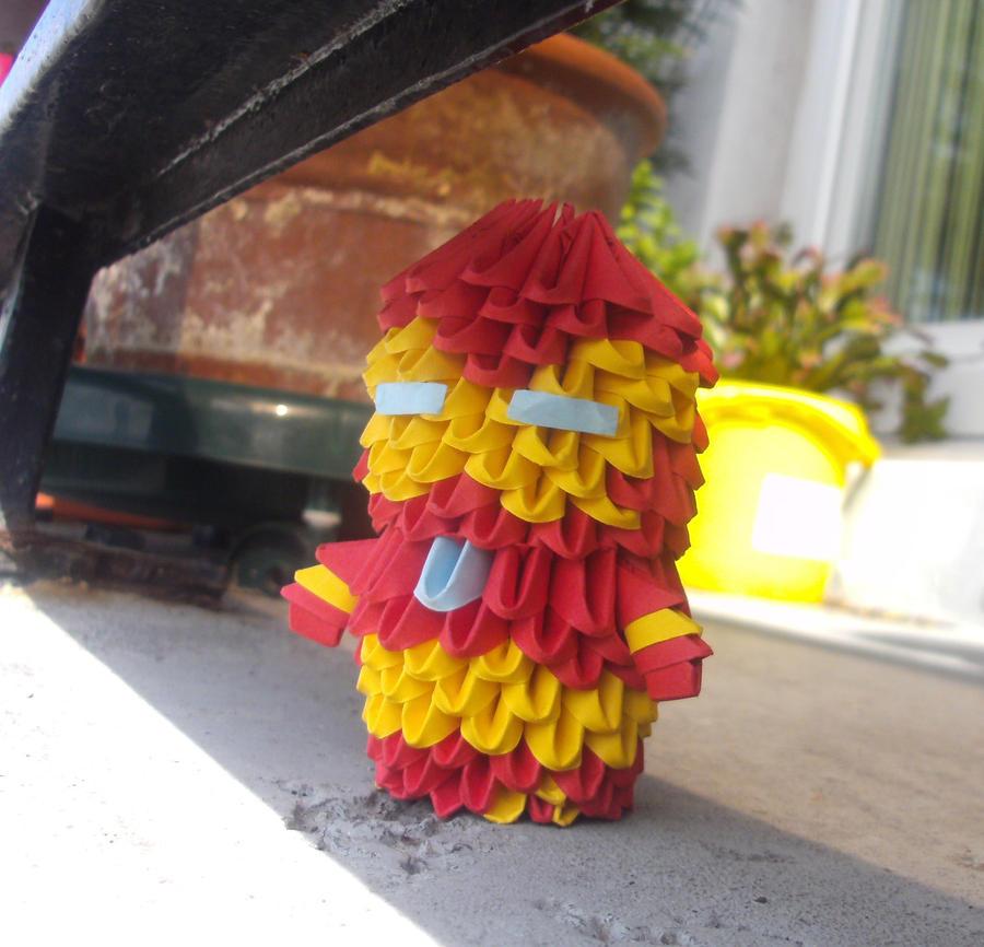 Chibi Ironman - 3D origami by SophieEkard
