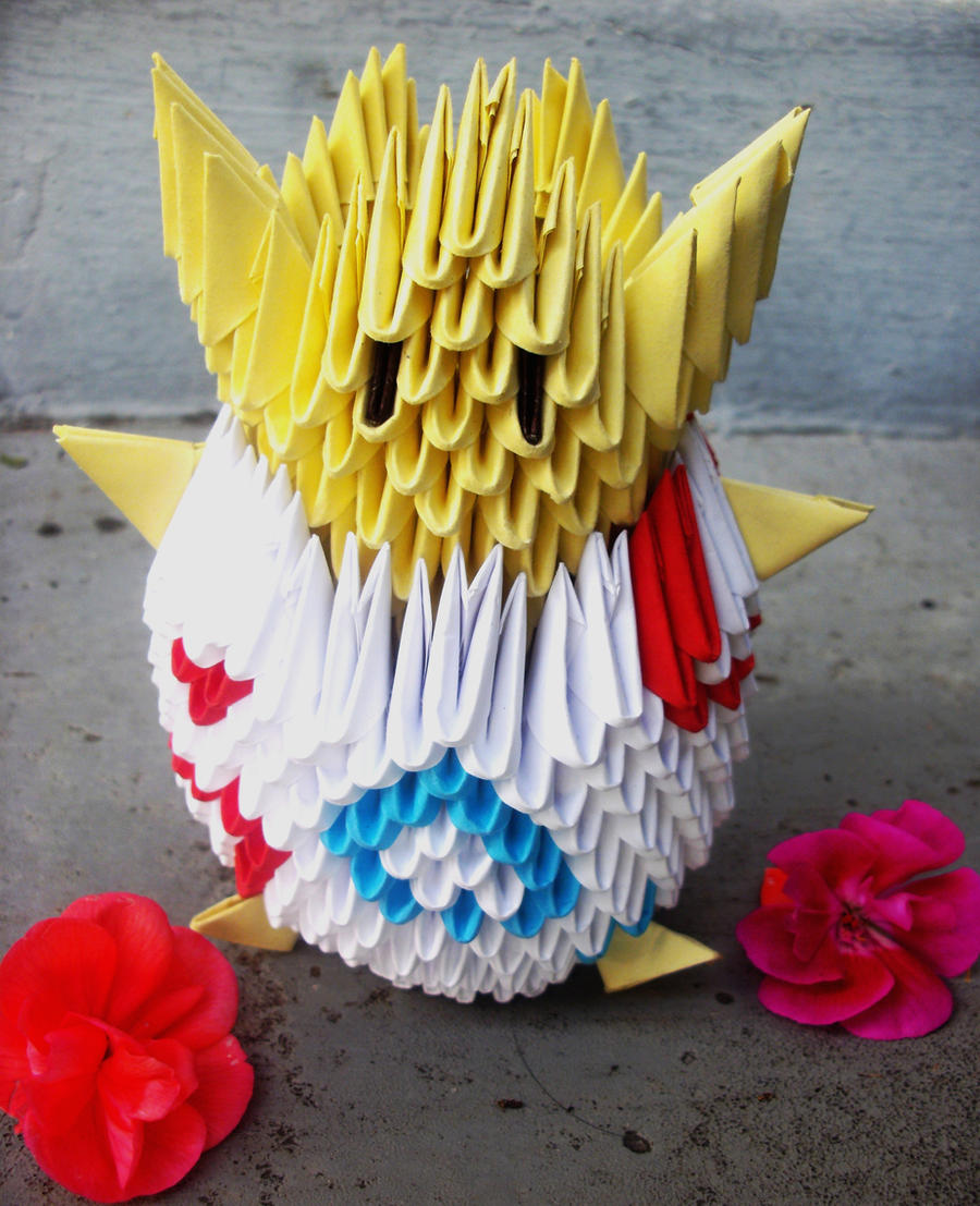 #175 Togepi - 3D origami by SophieEkard