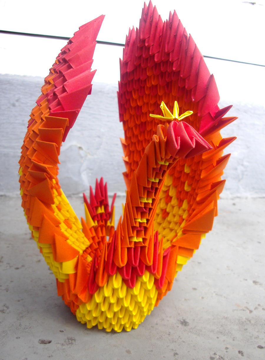Bottles of origami stars by sophieekard on deviantart phoenix winging her way 3d origami by sophieekard jeuxipadfo Images