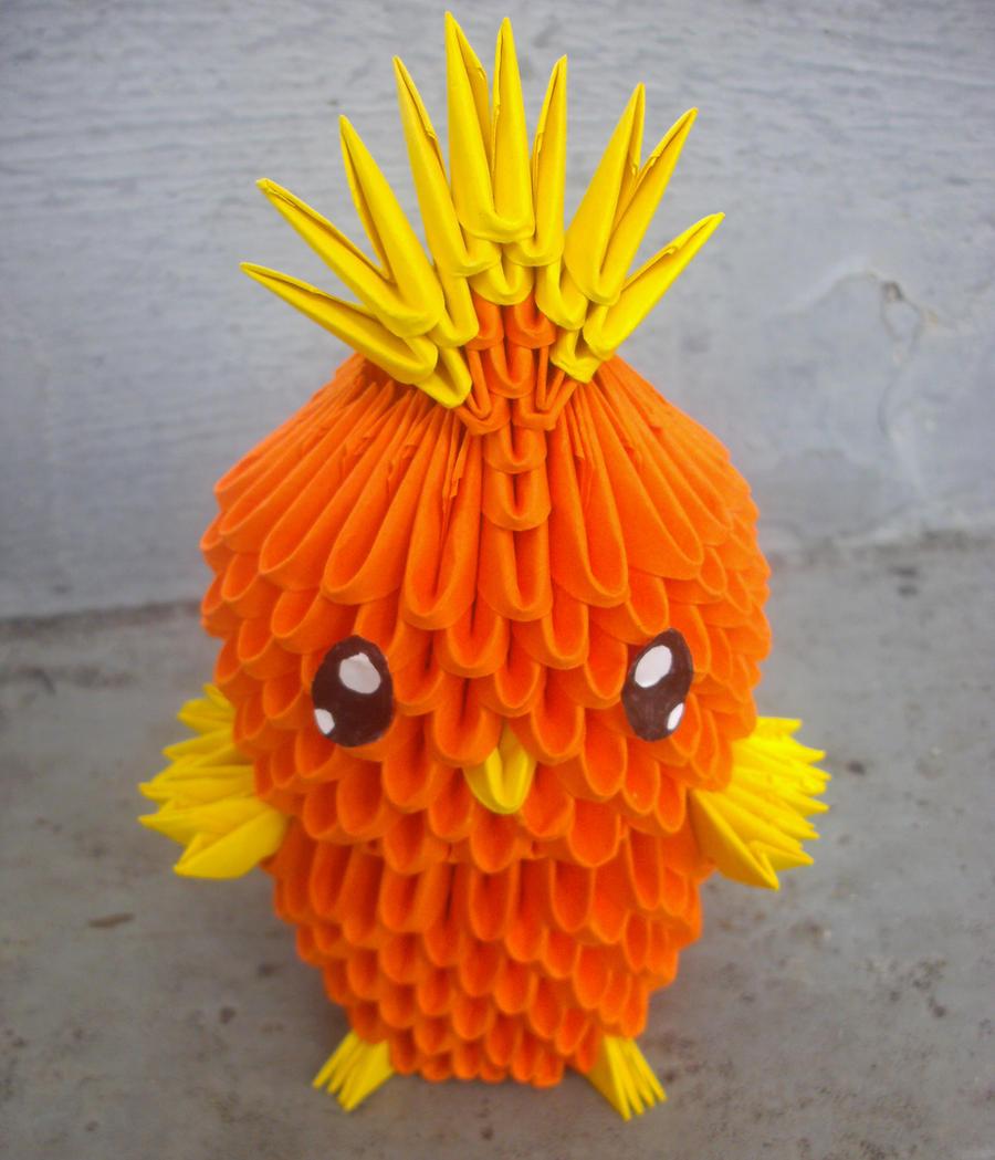 How to Make 3D Origami Minion — CraftBits.com | 1049x900
