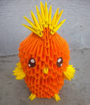 #255 Torchic - 3D origami