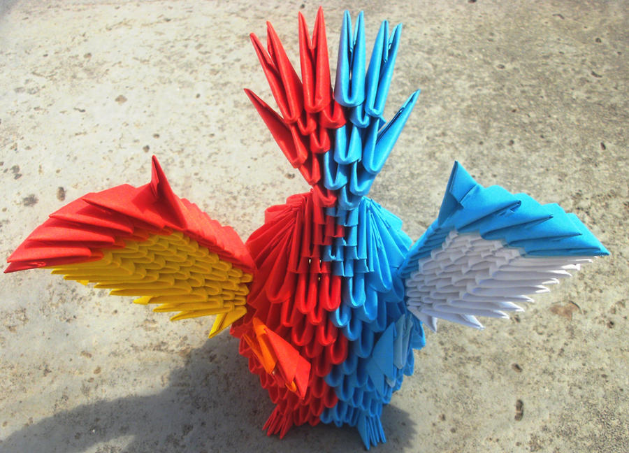 How to make a red Chinese dragon. 3D origami tutorial (instruction ... | 648x900