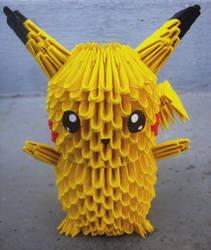 #25 Pikachu - 3D origami