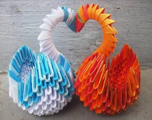 Swan Love - 3D origami