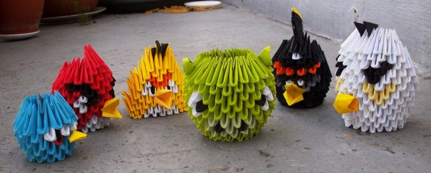 Angry birds 3d origami by sophieekard