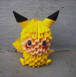 Pikachu child - 3D origami