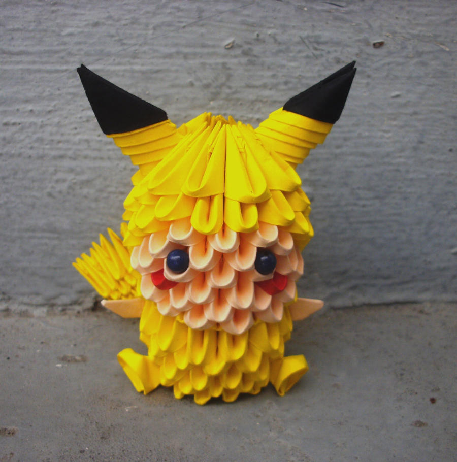 Chibi kirby 3d origami by sophieekard on deviantart pikachu child 3d origami by sophieekard jeuxipadfo Choice Image