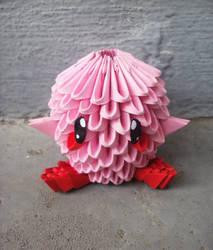 Chibi Kirby - 3D origami