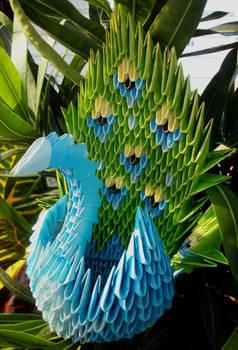 Peacock - 3D Origami
