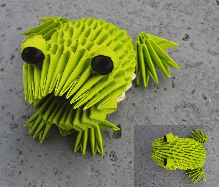 Frog - 3D origami by SophieEkard