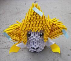 #385 Jirachi - 3D origami by SophieEkard
