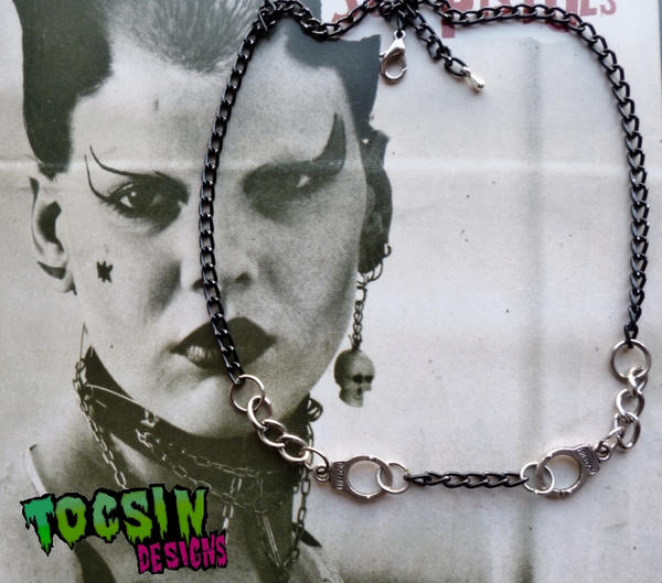 HANDCUFF NECKLACE by TocsinDesigns