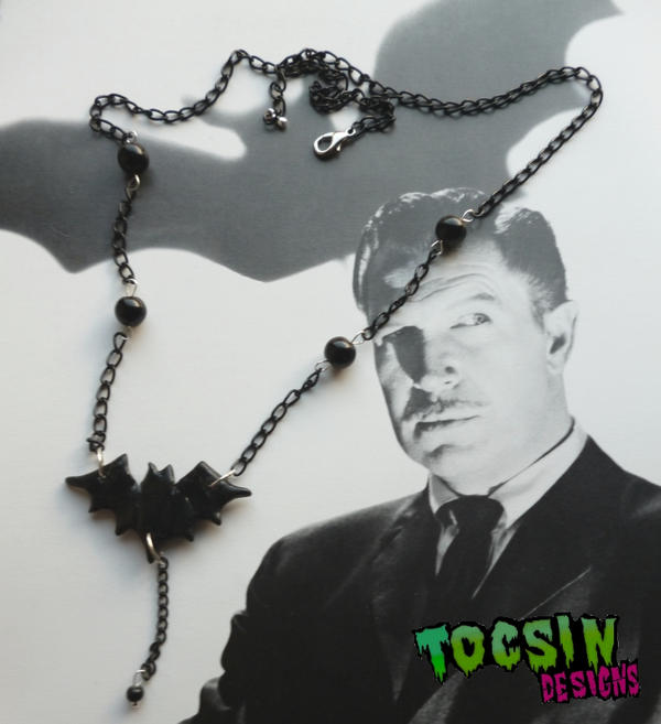 BAT NECKLACE by TocsinDesigns