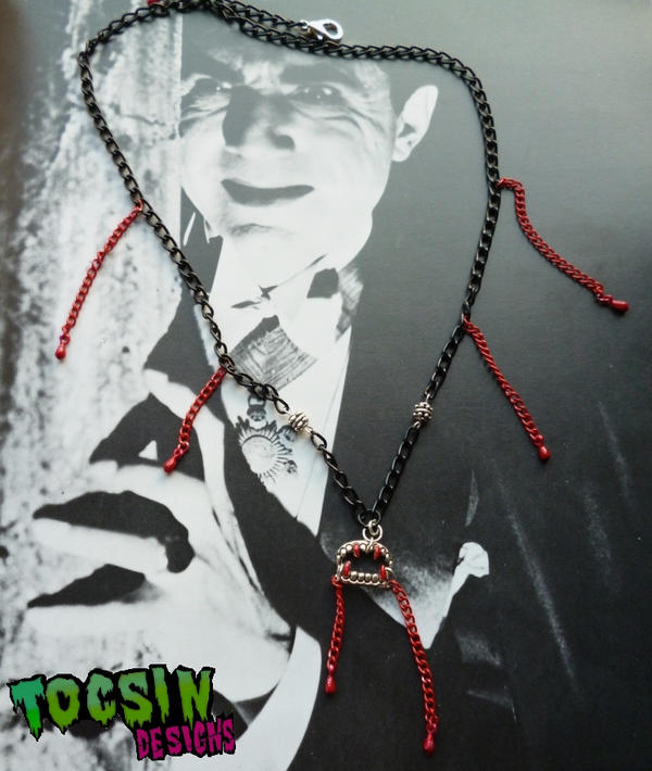 VAMPIRE FANGS NECKLACE by TocsinDesigns