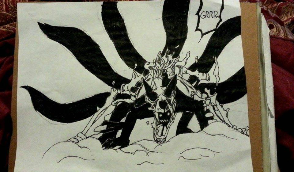 Naruto Kyuubi 6 Tail Form by NinjaCard204
