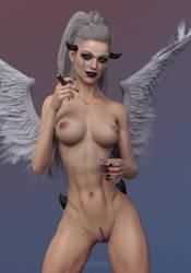 Smoking by skinnii3D