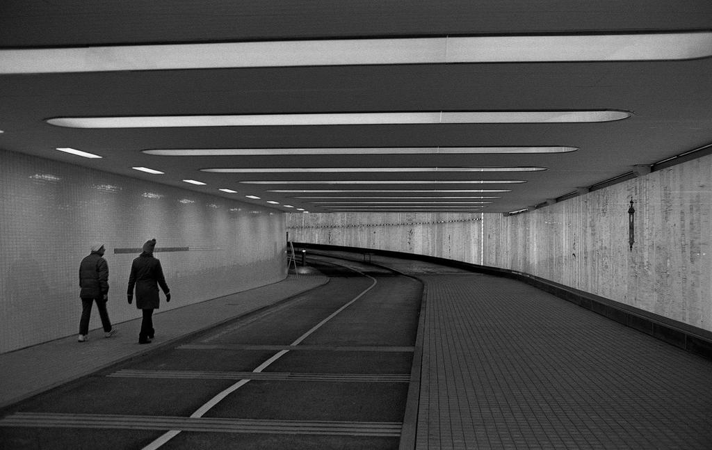 Pedestrian tunnel under central station by paw7904