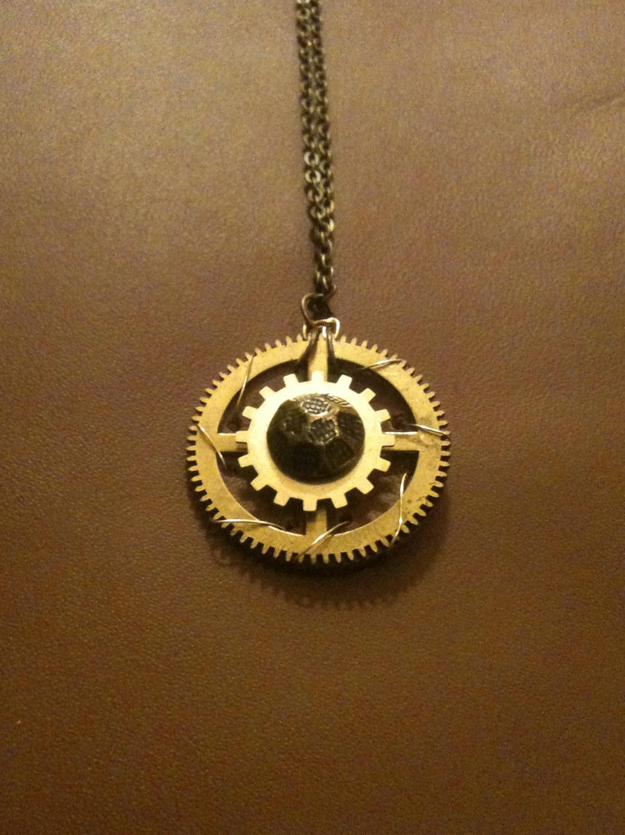 Clockspinner Necklace by LeviathanSteamworks